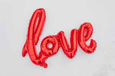red love balloon